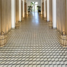 Encaustic cement tile in 5 Star Lux Grand Gaube Hotel, Mauritius