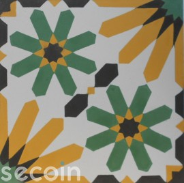 Encaustic cement tile A907-A