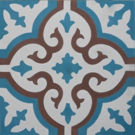 Encaustic cement tile A402 (S33, S7.3, S834)