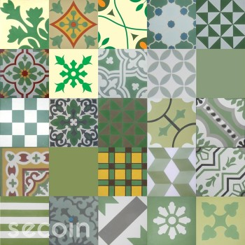 Patchwork green