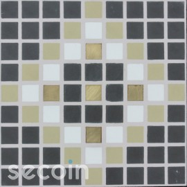 Brass inlaid tile HD 26149